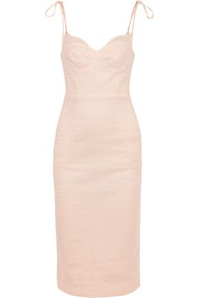 REBECCA VALLANCE Avignon bow-detailed lace dress