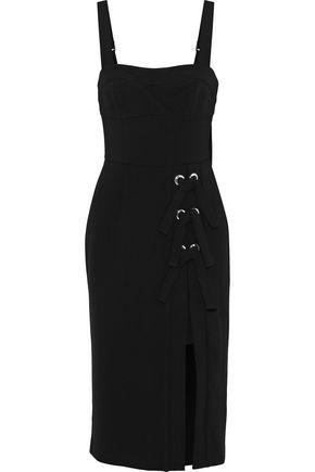 REBECCA VALLANCE Celestina lace-up crepe dress