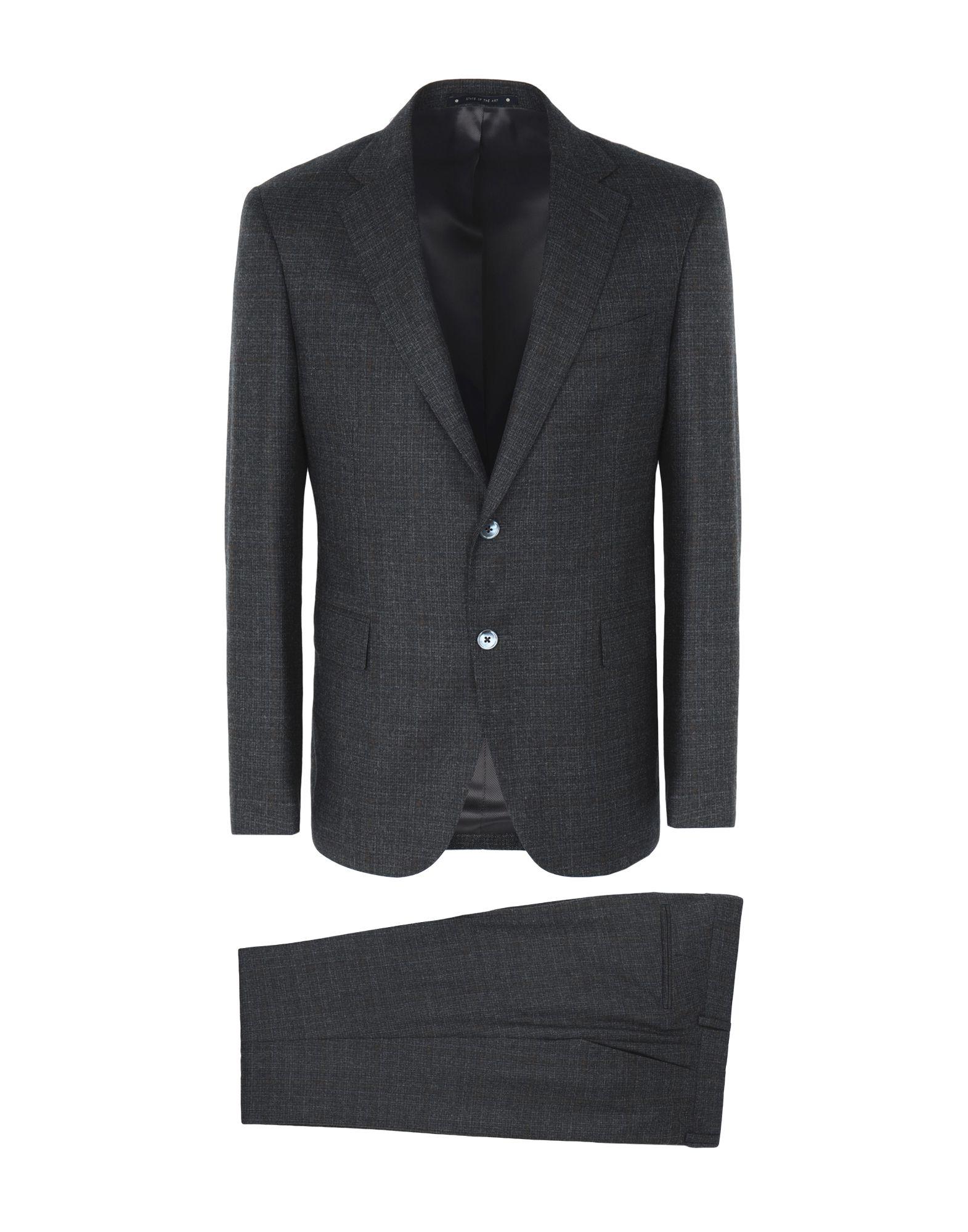 《送料無料》BAGNOLI Sartoria Napoli メンズ スーツ グレー 50 バージンウール 100%