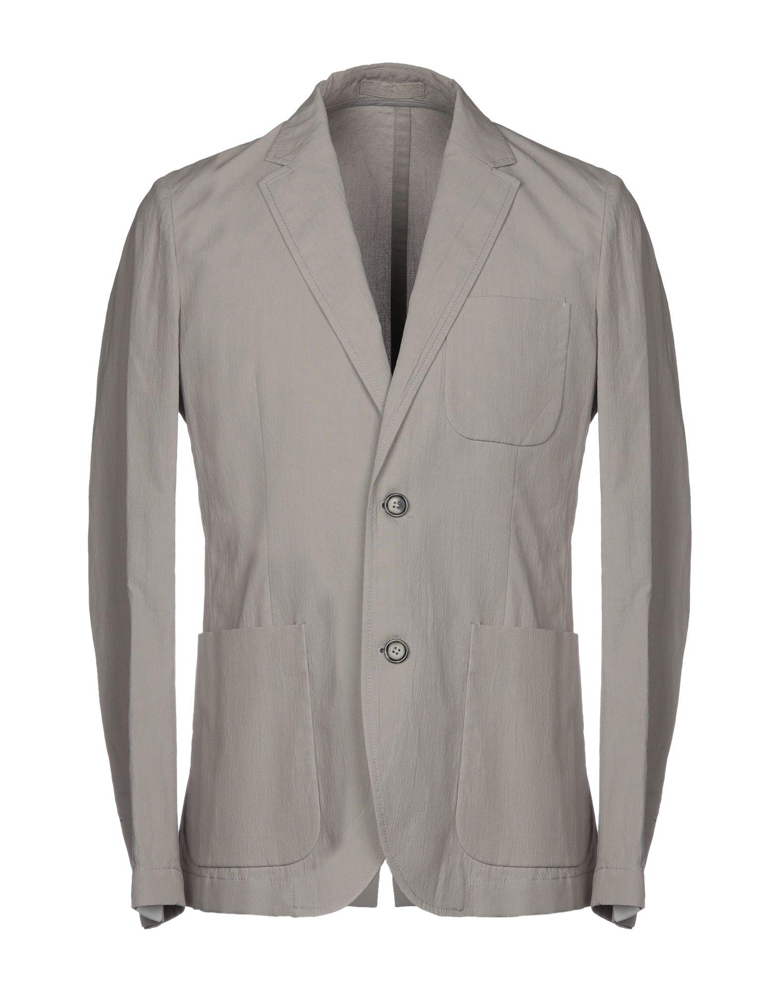 《セール開催中》PAOLO PECORA メンズ テーラードジャケット ライトグレー 48 99% コットン 1% ポリウレタン