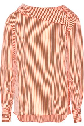 ALTUZARRA Eileen striped satin top
