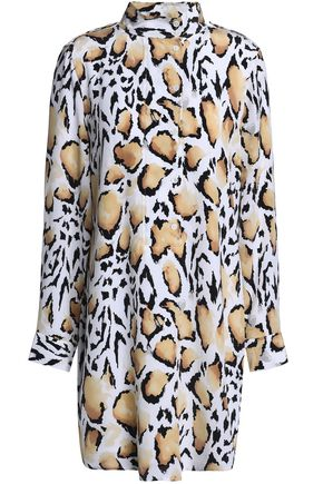 EQUIPMENT Leopard-print silk crepe de chine mini dress