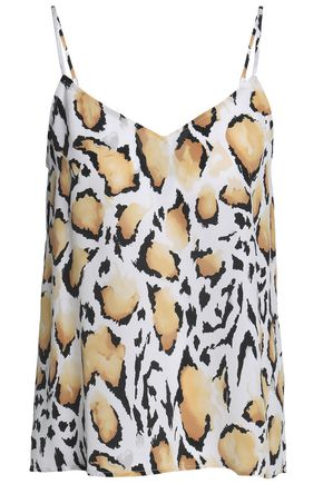EQUIPMENT Leopard-print washed-silk camisole