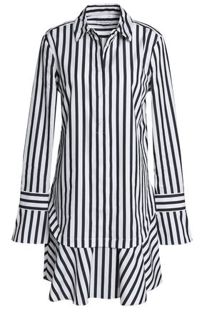 EQUIPMENT Daphne striped cotton-poplin mini shirt dress