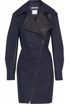 STELLA McCARTNEY Berenice faux leather-paneled canvas mini dress