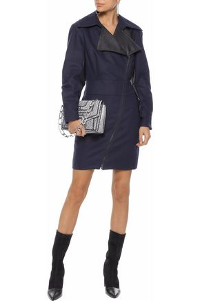 STELLA McCARTNEY Berenice faux leather-paneled canvas mini dress