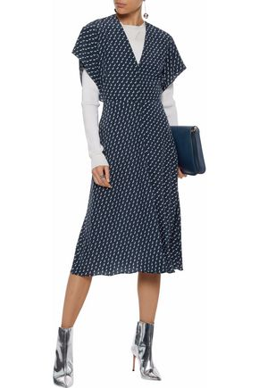 STELLA McCARTNEY Printed silk midi dress