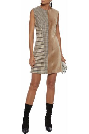 STELLA McCARTNEY Velvet-paneled jacquard mini dress
