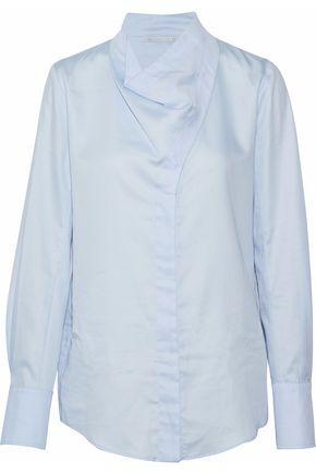 STELLA McCARTNEY Draped cotton-poplin shirt