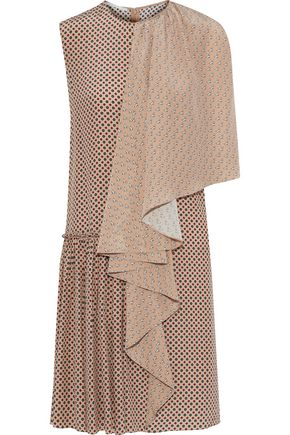 STELLA McCARTNEY Draped printed silk dress