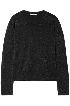 EQUIPMENT Metallic wool-blend top