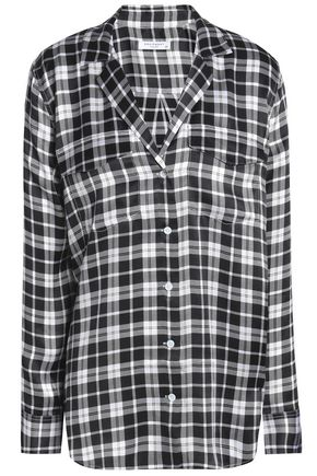 EQUIPMENT Ansley checked washed-silk shirt