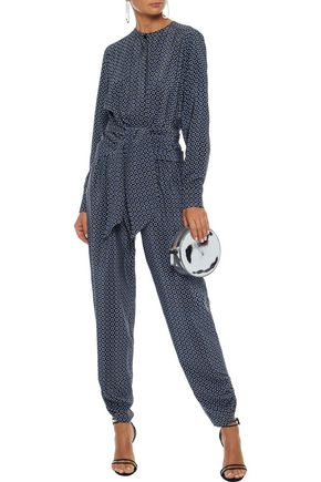 STELLA McCARTNEY Tie-front printed silk jumpsuit