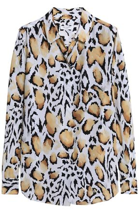 EQUIPMENT Leopard-print silk crepe de chine shirt