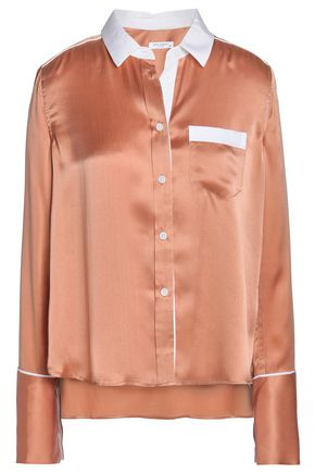 EQUIPMENT Two-tone silk-satin shirt