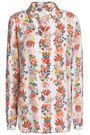EQUIPMENT Floral-print silk-cady shirt