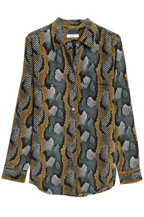 EQUIPMENT Snake-print silk crepe de chine shirt