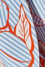 LELA ROSE Tie-front printed twill mini dress