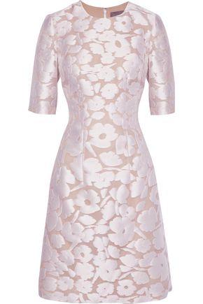 LELA ROSE Holly fil coupé organza dress