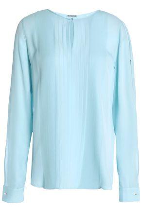 ELIE TAHARI Cutout silk crepe de chine blouse