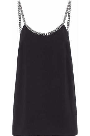 STELLA McCARTNEY Chain-trimmed cady top