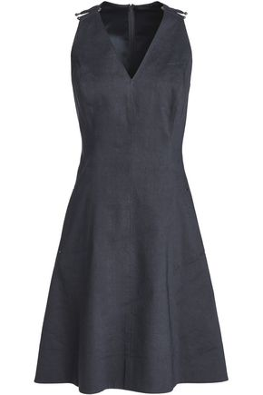 ELIE TAHARI Nadia flared linen-blend mini dress