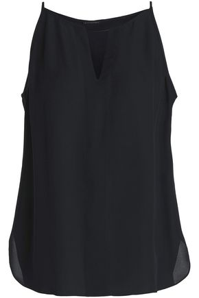 ELIE TAHARI Embellished cutout silk top