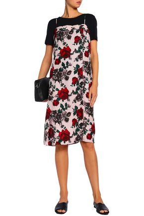 EQUIPMENT Floral-print silk-cady slip dress