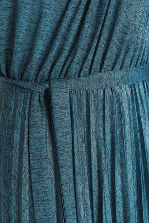 6b5bdd1cf4 ... ELIE TAHARI One-shoulder pleated mélange stretch-jersey maxi dress ...