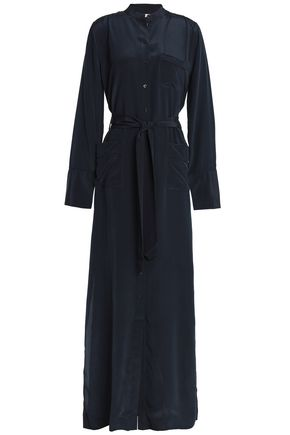 EQUIPMENT Belted silk crepe de chine dress