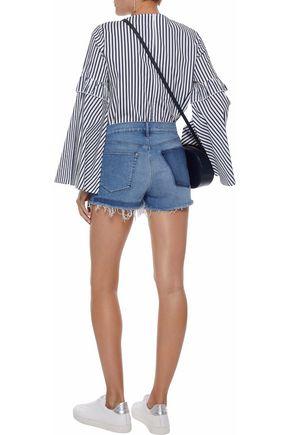 3x1 Shadow distressed denim shorts