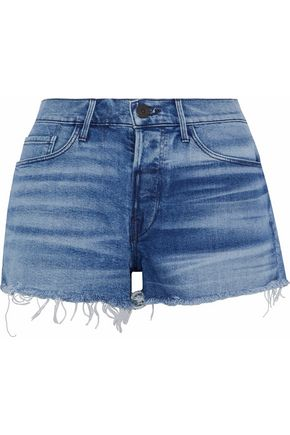 3x1 Shadow distressed denim shorts