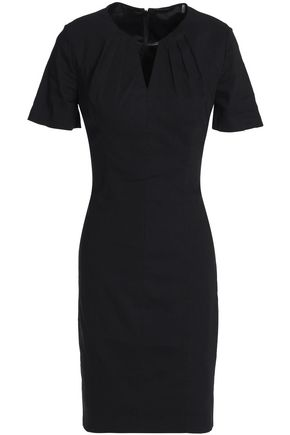 ELIE TAHARI Cutout linen-blend dress