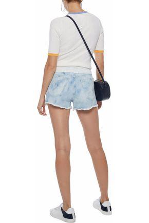 DEREK LAM 10 CROSBY Distressed denim shorts