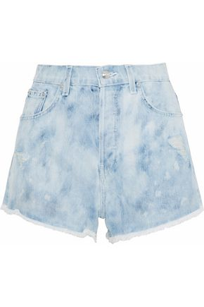 DEREK LAM 10 CROSBY Distressed denim shorts