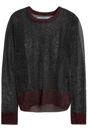 ZOE KARSSEN Metallic knitted sweater