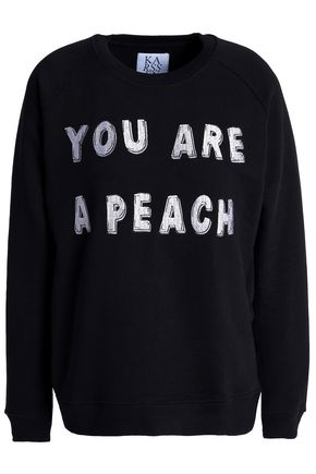 ZOE KARSSEN Embroidered cotton sweatshirt