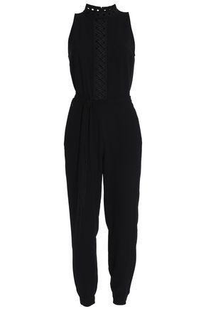 ELIE TAHARI Shaunda belted crepe jumpsuit