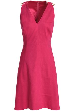 ELIE TAHARI Linen-blend dress
