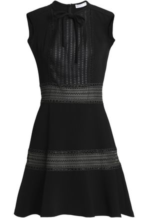 SANDRO_XX Embroidered crepe mini dress