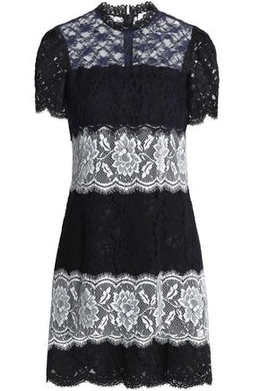 SANDRO_XX Paneled lace mini dress