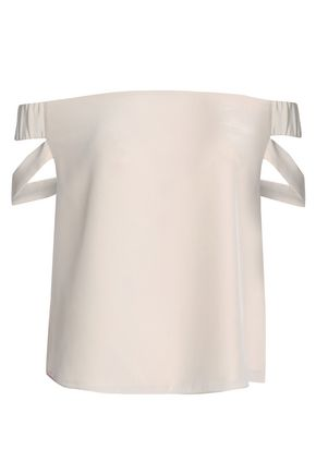 MICHELLE MASON Off-the-shoulder silk top