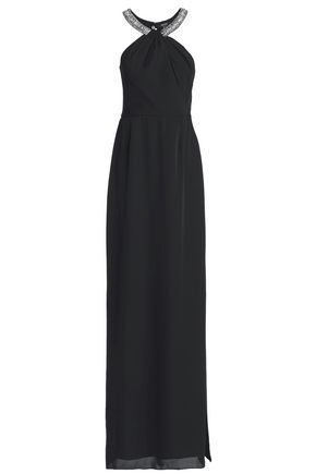 RAOUL Georgina embellished crepe dress