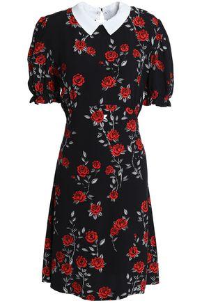 SANDRO Floral-print cady mini dress