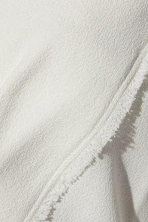 DEREK LAM Belted frayed crepe top