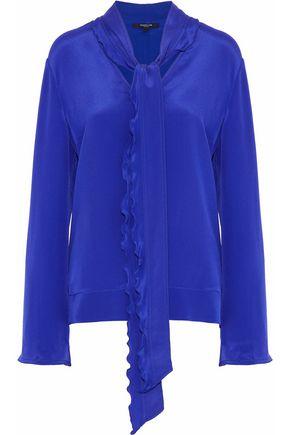 DEREK LAM Pussy-bow silk crepe de chine blouse