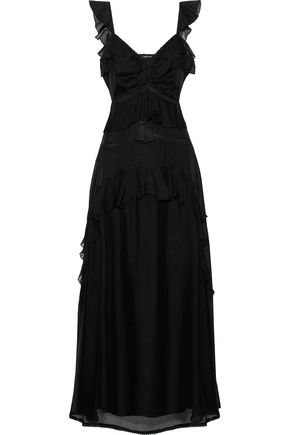 LOVE SAM Ruffled gauze maxi dress