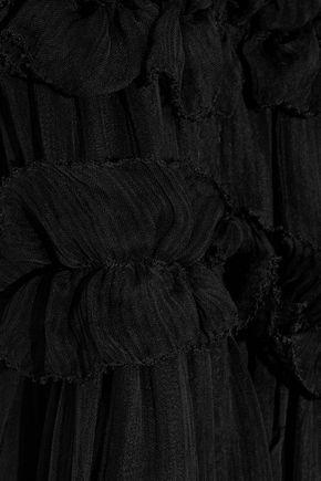 LOVE SAM Sadie off-the-shoulder ruffle-trimmed georgette dress