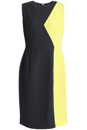 RAOUL Two-tone stretch-crepe dress