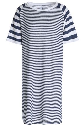 ZOE KARSSEN Striped linen-jersey mini dress